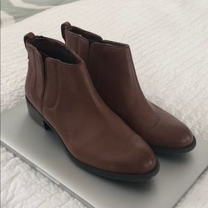 Brown Franco Sarto Ankle Boots